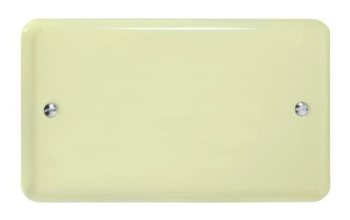 Varilight XYDB.WC Lily Pastel White Chocolate 2 Gang Double Blank Plate